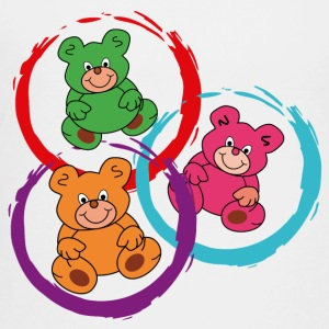 three teddybears in circles - Toddler Premium T-Shirt