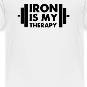 Iron is My Therapy - Toddler Premium T-Shirt