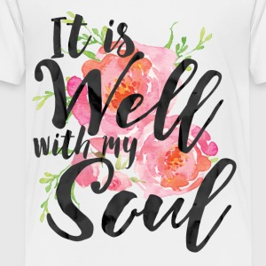 It is Well With My Soul - Plus Size - Toddler Premium T-Shirt