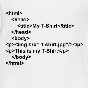 html - Toddler Premium T-Shirt