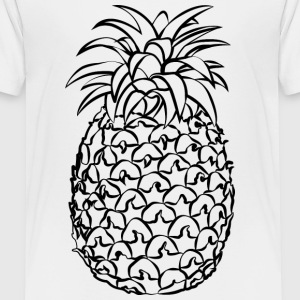 Pineapple Line Drawing - Toddler Premium T-Shirt