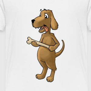 dog hound bone pet animal funny fun - Toddler Premium T-Shirt
