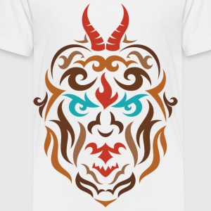 Trojanius horns tribal face design - Toddler Premium T-Shirt