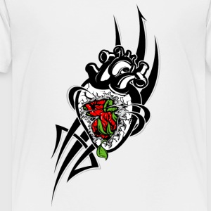 black_heart_with_rose - Toddler Premium T-Shirt