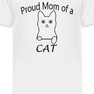 Proud mom of a Cat - Toddler Premium T-Shirt