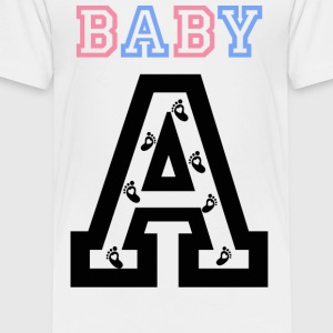 Twins - Baby gender reveal for baby A - Toddler Premium T-Shirt