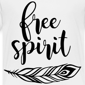 Free Spirit Feather Wild One - Toddler Premium T-Shirt