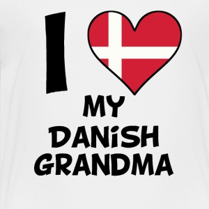 I Heart My Danish Grandma - Toddler Premium T-Shirt