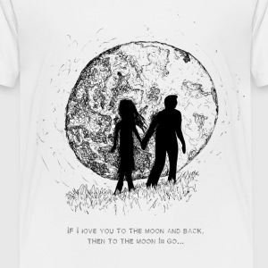 Walking To The Moon - Toddler Premium T-Shirt