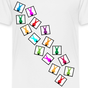 little stamps with easter bunnies / easter rabbits - Toddler Premium T-Shirt
