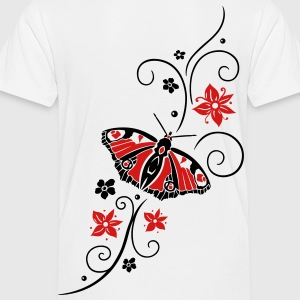 Big colorful butterfly with filigree tribal. - Toddler Premium T-Shirt