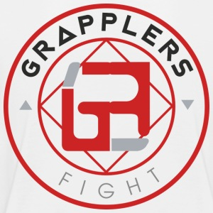 Light 001 grapplersfight LOGO Back - Toddler Premium T-Shirt
