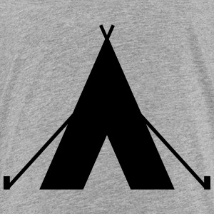 tent - camp - camping fire - Toddler Premium T-Shirt