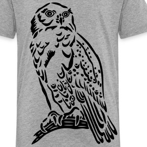 Beautiful Snowy Owl in Tattoo Style. - Toddler Premium T-Shirt