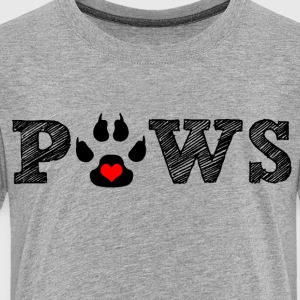 Paw animal graphic for cat and animal lovers. - Toddler Premium T-Shirt