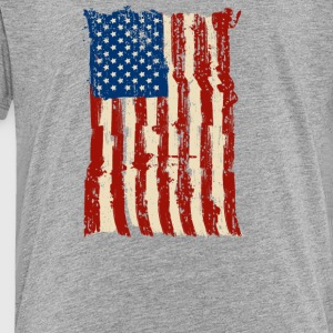 4th of July Independence Celebration American Flag - Toddler Premium T-Shirt
