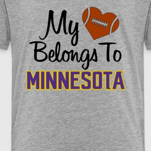 Mi heart belongs to Minnesota - Toddler Premium T-Shirt
