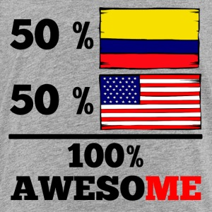 Half Colombian Half American 100% Awesome - Toddler Premium T-Shirt