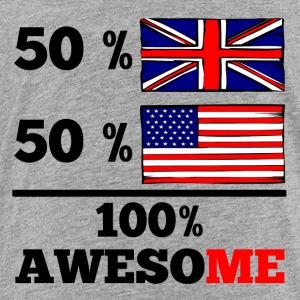 Half British Half American 100% Awesome - Toddler Premium T-Shirt