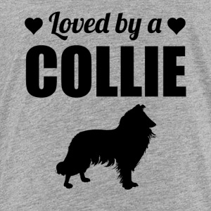 Loved By A Collie - Toddler Premium T-Shirt
