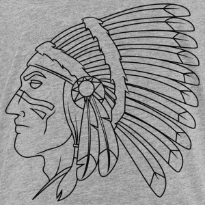 american_indian_chief_with_colored_face_black - Toddler Premium T-Shirt