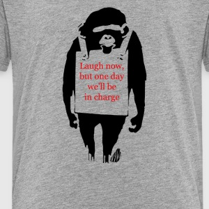 Laugh Now Monkey Sandwich - Toddler Premium T-Shirt
