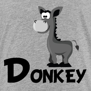 Cartoon Donkey - Toddler Premium T-Shirt
