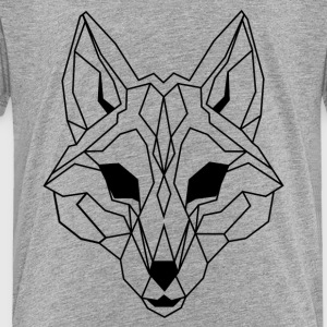 Lineart of a wolf / wolf transparent - Toddler Premium T-Shirt