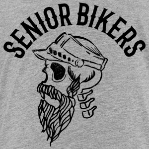 Senior biker skull tatoo inscription - Toddler Premium T-Shirt