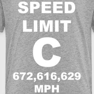 Speed of light posters - Toddler Premium T-Shirt
