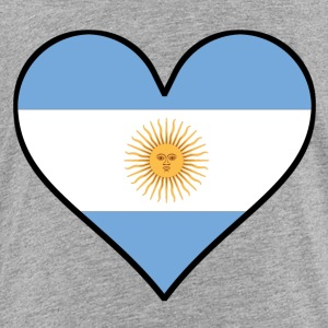 Argentinian Flag Heart - Toddler Premium T-Shirt