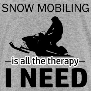 Snow Mobiling is my therapy - Toddler Premium T-Shirt