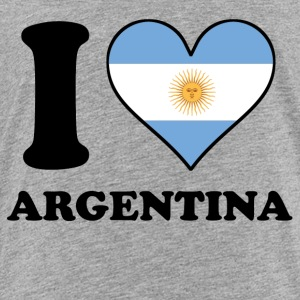 I Love Argentina Argentinian Flag Heart - Toddler Premium T-Shirt