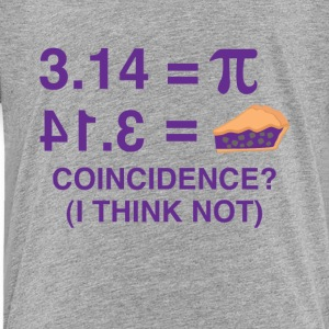 Pie Funny Math Nerdy Tee Shirt - Toddler Premium T-Shirt
