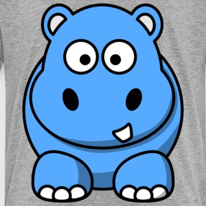Happy Hippo Funny Comic Style - Toddler Premium T-Shirt