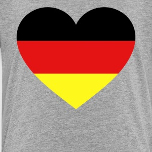 Germany Flag Love Heart Patriotic Symbol - Toddler Premium T-Shirt