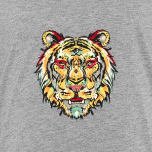 Tiger, Watercolor Splash Tiger - Toddler Premium T-Shirt