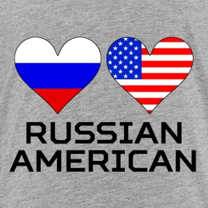 Russian American Hearts - Toddler Premium T-Shirt