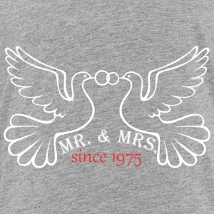 Mr And Mrs Since 1975 Married Marriage Engagement - Toddler Premium T-Shirt