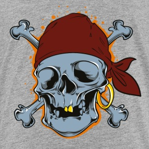 Pirate Skull Bones Comic Style - Toddler Premium T-Shirt