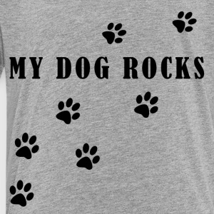 My Dog Rocks Black - Toddler Premium T-Shirt