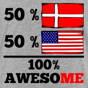 Half Danish Half American 100% Awesome - Toddler Premium T-Shirt