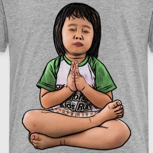little girl praying and meditating people wishing - Toddler Premium T-Shirt