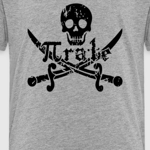 Pirate Skull and Crossbones Math Pi Rate - Toddler Premium T-Shirt