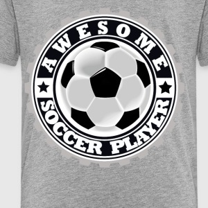 Symbol of an Awesome Soccer Player - Toddler Premium T-Shirt
