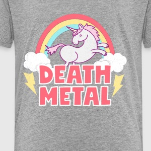 Death Metal Unicorn Thunder Rainbow Clouds Unicorn - Toddler Premium T-Shirt