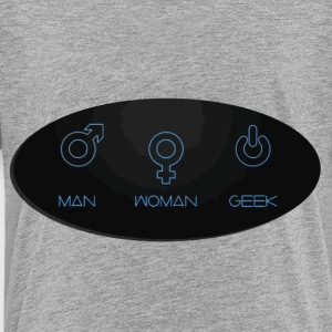 Man woman geek genders - Toddler Premium T-Shirt