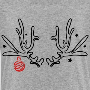 Antler with stars and christmas ball - Toddler Premium T-Shirt