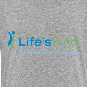 Life sWork Standard Logo - Grey - Toddler Premium T-Shirt