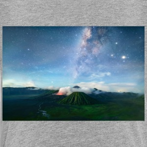 Volcano with the pretty Galaxy - Toddler Premium T-Shirt
